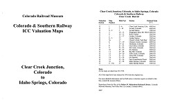 ICC Map Set No. 36 - C&S Clear Creek to Idaho Springs, CO