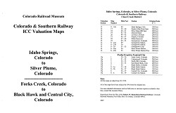 ICC Map Set No. 37 - C&S Idaho Springs to Silver Plume, CO