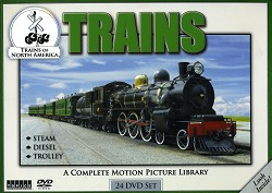 Trains of North America: 24 DVD set