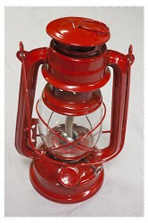 "Red ""Hurricane"" Lantern - 9.5"" Tall"