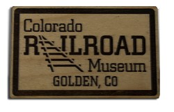 Colorado Railroad Museum Wood Magnet