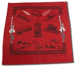 Red Train Bandana from Field and Flower