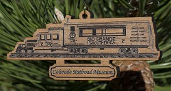 "RGS ""Gallopin' Goose"" No. 7 Wooden Ornament"