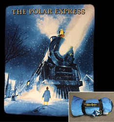 Polar Express Fleece Blanket Train Design