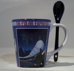 Polar Express Mug with Spoon