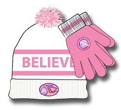 Pink Polar Express Hat and Glove Set