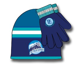 Blue Polar Express Hat and Glove Set