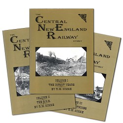 USED BOOK Centrral New England Railway Story - 3 Volume Set