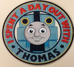 Day out with Thomas Tin Sign