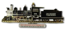 RGS Steam Locomotive No. 20 Custom Brass Ornament