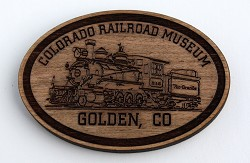 Colorado Railroad Museum Wood Magnet Featuring D&RGW No. 346