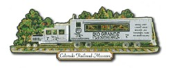 "RGS ""Galloping Goose"" No. 7 Custom Brass Ornament"