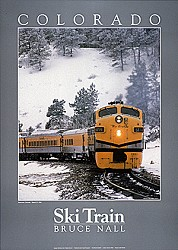 Colorado Ski Train Poster