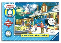Check in at the Station - 100 piece Glow in the Dark Puzzle