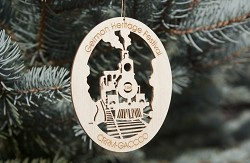 CO RR Museum German Heritage Festival Wood Ornament