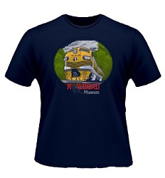D&RGW Diesel Locomotive No. 5771 Navy T-Shirt Large