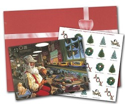 Santa's Assembly Station - 25 Holday Greeting Cards