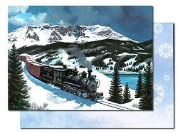 Leanin' Tree Holiday Cards - Old Timer in the Rockies Single