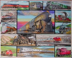 Great Trains - 1,000 Piece Multi-Picture Jigsaw Puzzle