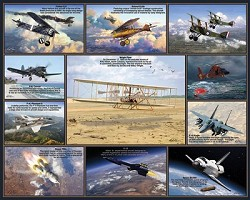 Historic Flights - 1,000 Piece Multi-Picture Jigsaw Puzzle