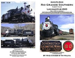 Rio Grande Southern Locomotive No. 20 - Quick Pic Series