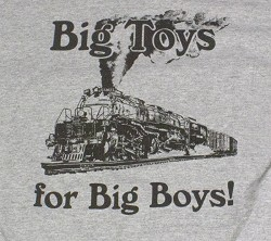 Big Toys For Big Boys - Gray Big Boy T-Shirt XL
