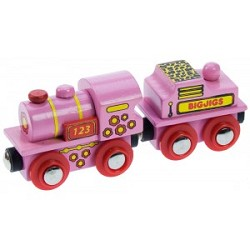 Pink Steam Locomotive - Wooden Railway Toy,BJT412