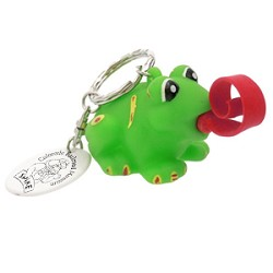 Frog Roll Out Tongue Key Chain