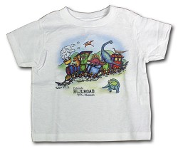 Dinosaur Express Train Youth T-Shirt Medium