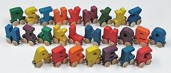 NameTrain Alphabet Letter Car Set