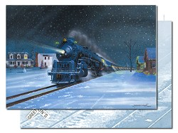 Polar Special with Engine No. 3 - Leanin' Tree Holiday Cards