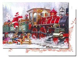 Santa Express - Leanin' Tree Holiday Cards
