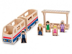 Whittle World Train Plarform Play Set,2F-1-20-L