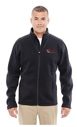 CO Railroad Museum Wintercept Fleece Full-Zip Jacket Black Adult XXL