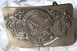 "Silverton Railroad ""Rainbow Route"" 1893 Pass Belt Buckle"