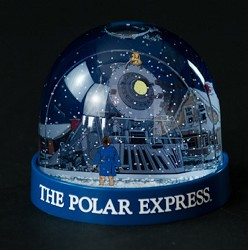Polar Express Snow Globe Boy and Train
