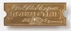 "The Polar Express""Round Trip"" Golden Ticket Lapel Pin,SL090218"
