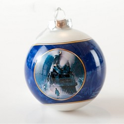 The Polar Express Locomotive Glass Holiday Ornament