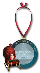 The Polar Express Santa Frame Resin Holiday Ornament