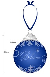 The Polar Express Believe Glass Ornament