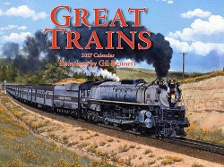 2017 Calendar - Great Trains - Paintings by Gil Bennett