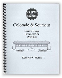 Colorado & Southern Narrow Gauge Passenger Car Drawings