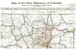 Two-Sided Colorado Railroads & Highways Map,COOR