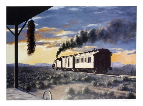 Sunset on the Chili Line Poster by Mike Danneman
