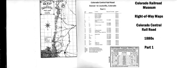 ICC Map Set No. 42 - Colorado Central Part 1