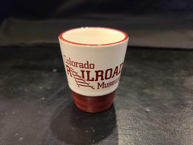 Almond & Maroon Colorado Railroad Museum Shot Glass