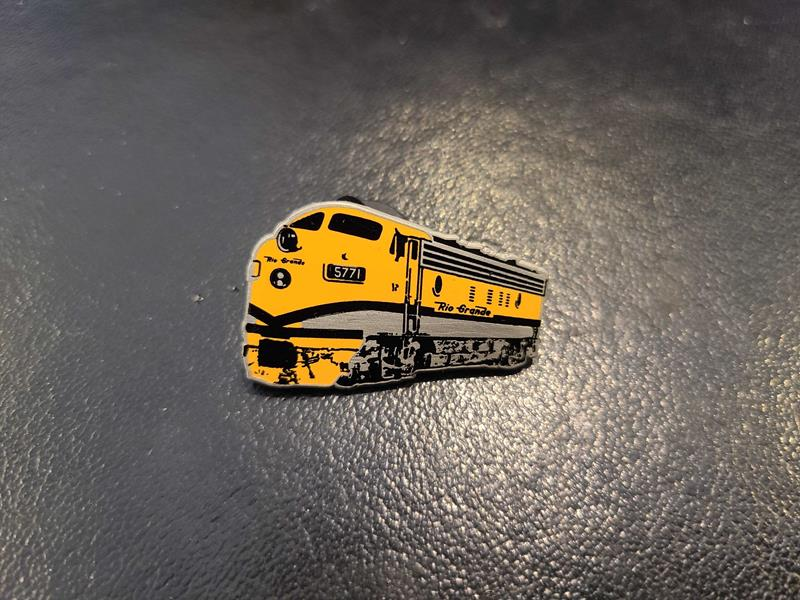 Rio Grande F9 Locomotive Pin,RGF7