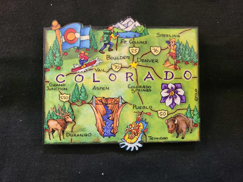 Colorado Wood Map Magnet,MG178