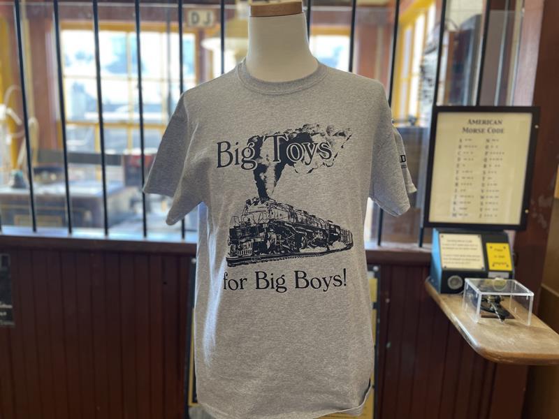 Big Toys For Big Boys - Gray Big Boy T-Shirt