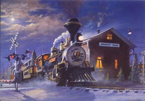 Milmont Park Depot - Leanin\' Tree Holiday Cards - Colorado Railroad ...